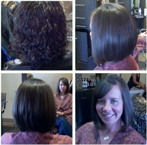 Curly to the Perfect Bob