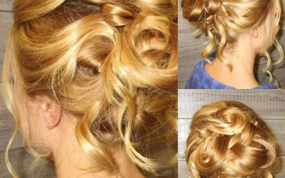 We are head over heels for this romantic updo!