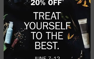 From now until next Tuesday, June 12th, ALL AVEDA products are 20% OFF at Pistachio Cut & Color Bar.This special promotion happens only once a year and supplies are limited.Drop by Pistachio today to stock up on your favorite products!