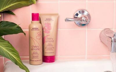 Your shower + new #CherryAlmond shampoo and conditioner = a match made in soft, shiny hair heaven! What more could you ask for? #smellslikeaveda
