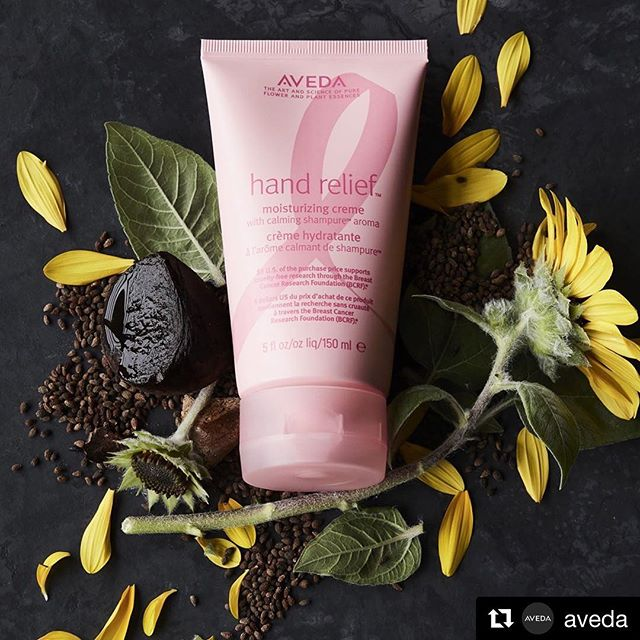 Did you know that you've helped us donate over $4.25 million to the Breast Cancer Research Foundation? Since 2001, we've helped support #crueltyfree research to help find a cure — and we couldn't have done it without YOU! This year, pick up the limited-edition Hand Relief with Shampure aroma to feel good AND do good. ___________________________#instahair #instabeauty #atthesalon #salonlife #hair #hairspiration #hairsalon #haircolor #hairstyles #hairstyling #haircut #carlsbad #sandiego #sandiegohair #carlsbadhair #aveda #avedacolor #avedaproducts #avedaartist #smellslikeaveda #crueltyfree #botanicals #knowwhatyouremadeof #plazapaseoreal #AvedaMission #KnowWhatWereMadeOf