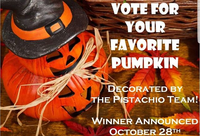 October 12 - 28th Check out the Pistachio team's pumpkin creations and vote for your favorite! The winner will be announced on Facebook and Instagram October 28th. ___________________________#instahair #instabeauty #atthesalon #salonlife #hair #hairspiration #hairsalon #haircolor #hairstyles #hairstyling #haircut #carlsbad #sandiego #sandiegohair #carlsbadhair #aveda #avedacolor #avedaproducts #avedaartist #smellslikeaveda #crueltyfree #botanicals #knowwhatyouremadeof #plazapaseoreal #pumpkincontest