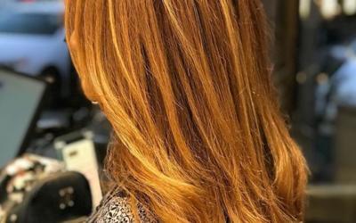 Ginger Spice Swipe to view the transformation!___________________________#instahair #instabeauty #atthesalon #salonlife #hair #hairspiration #hairsalon #haircolor #hairstyles #hairstyling #haircut #carlsbad #sandiego #sandiegohair #carlsbadhair #aveda #avedacolor #avedaproducts #avedaartist #smellslikeaveda #crueltyfree #botanicals #knowwhatyouremadeof #plazapaseoreal #gingerspice #redhead #balayage #highlights